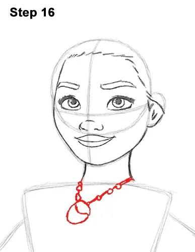 Moana Drawing Easy : moana, drawing, Moana