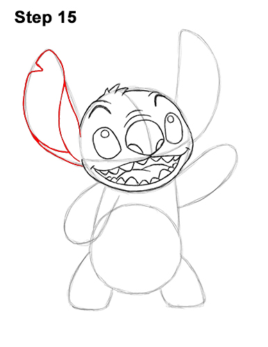 Stitch Step By Step Drawing : stitch, drawing, Stitch, (Full, Body)