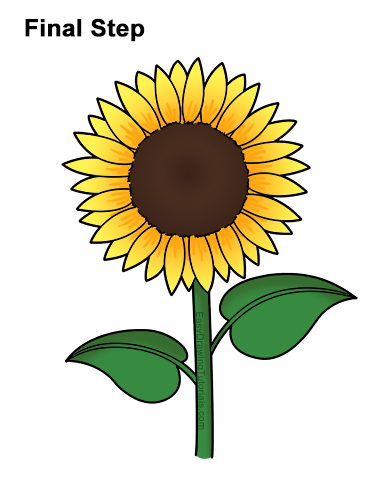 Sunflower Cartoon Stock Illustrations - 7,250... - Dreamstime