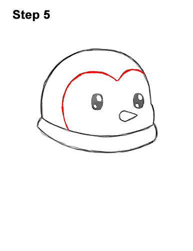 Penguin Drawing Easy Cute : penguin, drawing, Penguin, (Cartoon), VIDEO, Step-by-Step, Pictures
