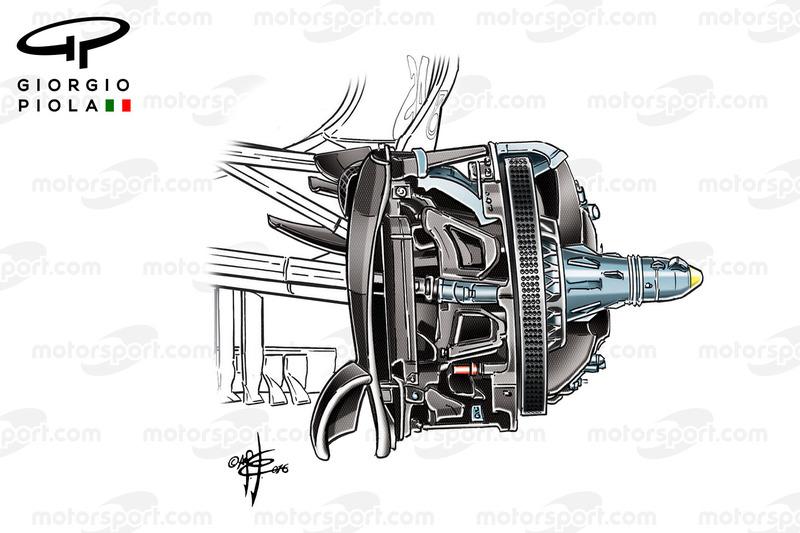 Mercedes W07, disco freni anteriore