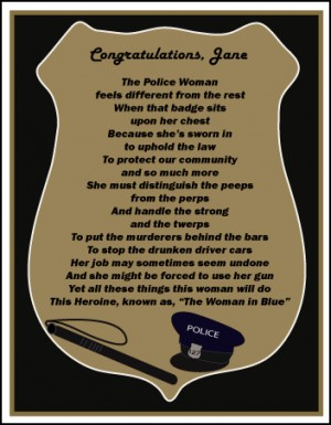 Police Appreciation Quotes : police, appreciation, quotes, Police, Retirement, Poems