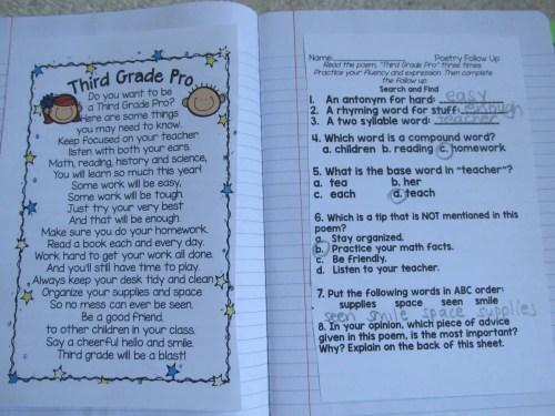 small resolution of Third grade Poems