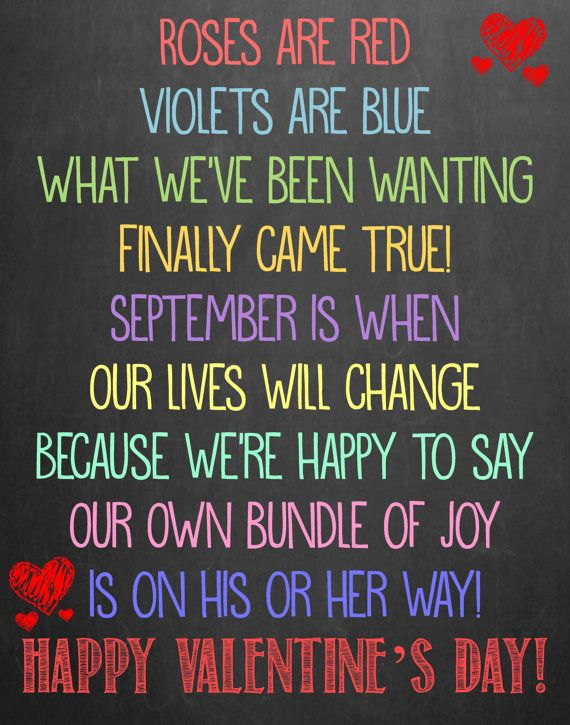 Roses Are Red Violets Are Blue Baby Announcement : roses, violets, announcement, Pregnancy, Announcement, Poems
