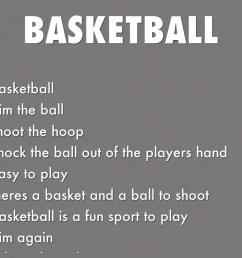 Basketball acrostic Poems [ 768 x 1024 Pixel ]