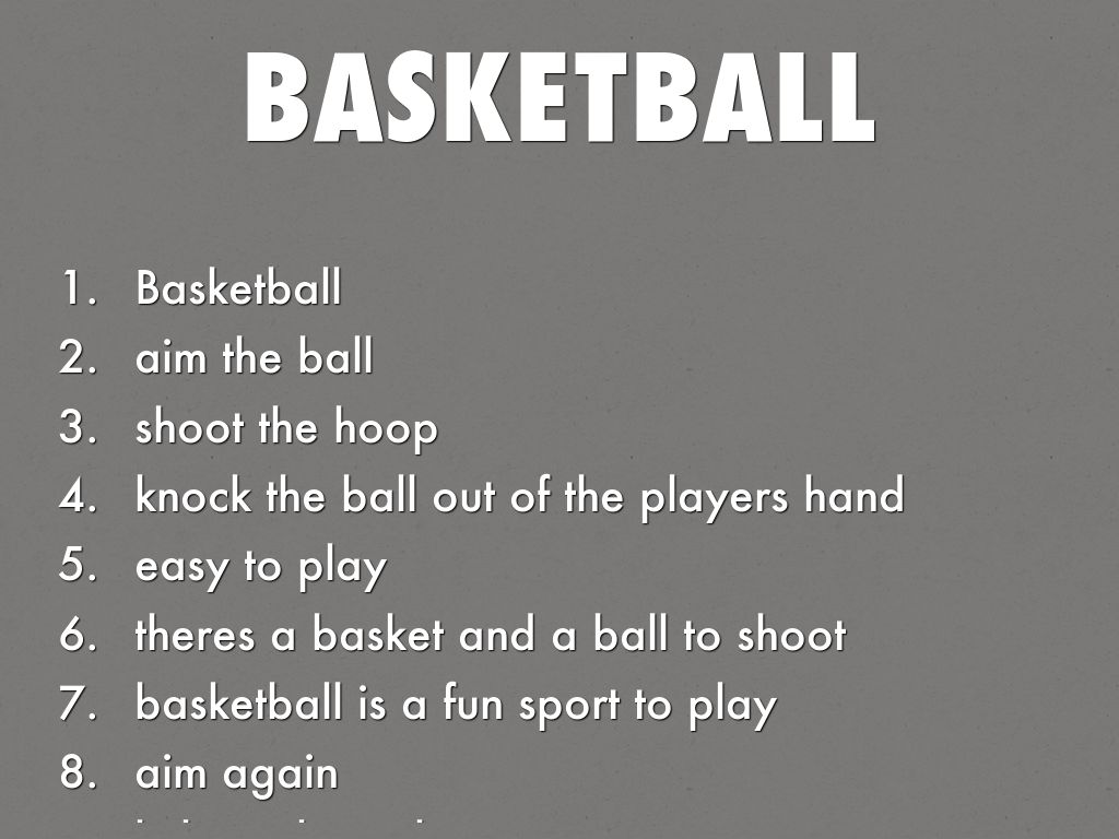 hight resolution of Basketball acrostic Poems