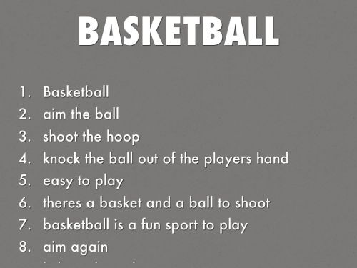 small resolution of Basketball acrostic Poems