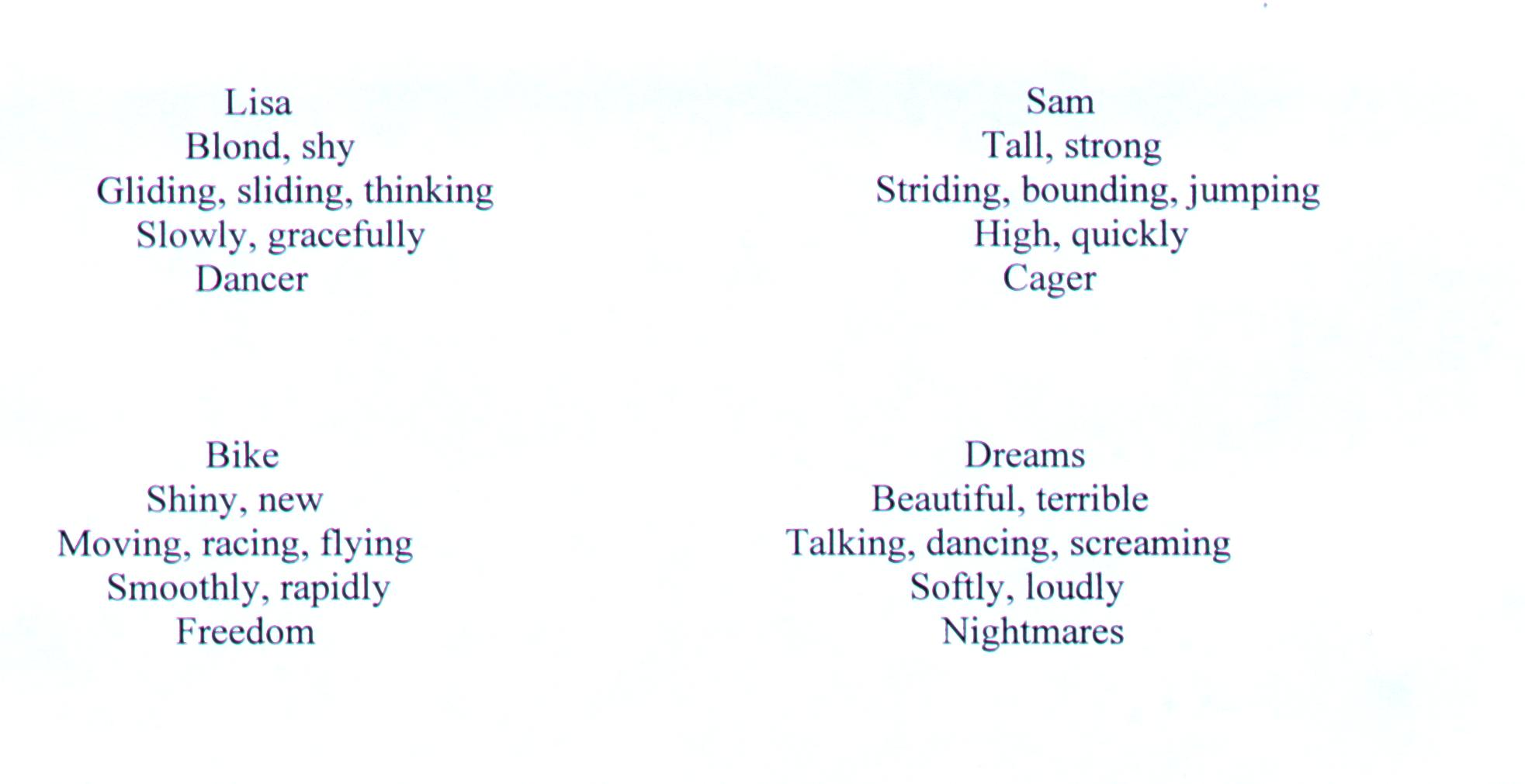 hight resolution of Examples of cinquain Poems