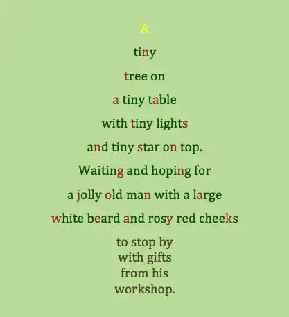 photo Christmas Tree Poem Short christmas tree poems