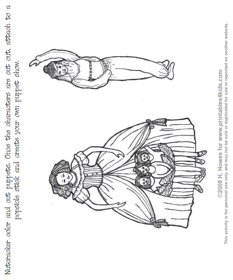 Anybody May Download: NUTCRACKER COLORING PAGES PRINTABLE