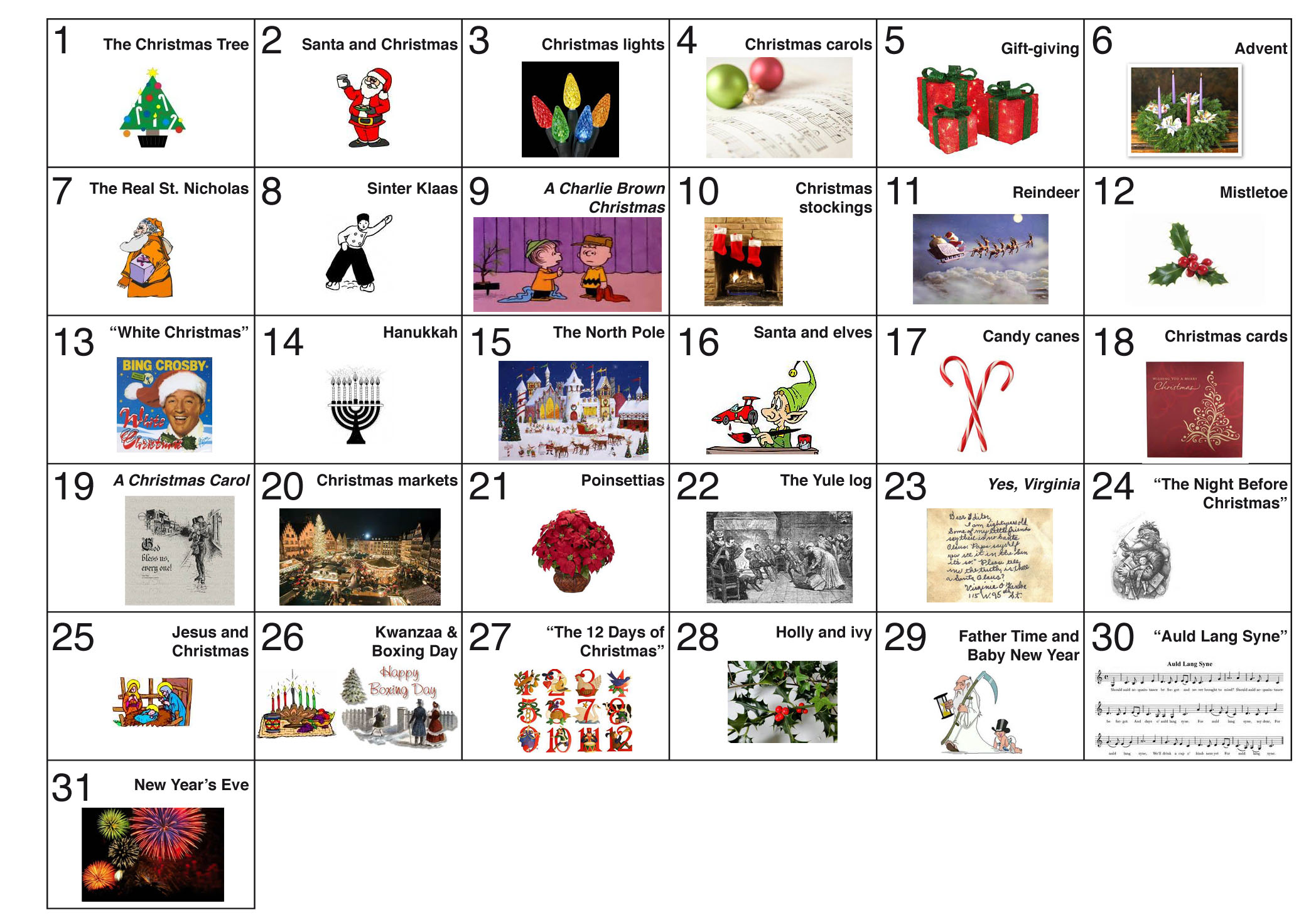 December 31 Days Of Fun And Celebration