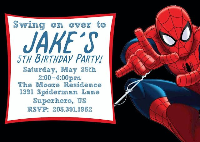30 best spiderman birthday invitations