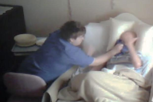 Footage appears to show nursing home worker mistreating 87-year-old patient. Photo: ABC730