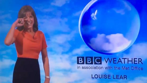 Louise Lear 'loses It' During Bbc News Weather Forecast