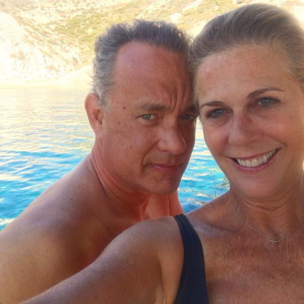 Rita Wilson shared an image on her Twitter account with her husband Tom Hanks
