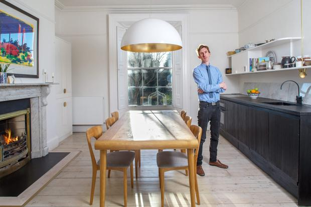 moveable kitchen island on wheels video: how one irish period house got a make-over ...