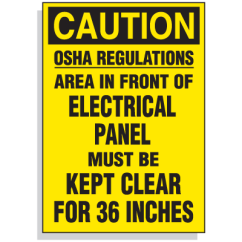 Electrical Panel Hazards L14 30r Receptacle Wiring Diagram Lockout Hazard Warning Labels Osha Regulations Area In Front Of