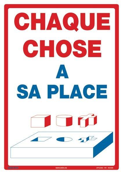 Une Place Pour Chaque Chose Et Chaque Chose à Sa Place : place, chaque, chose, Affiche, Chaque, Chose, Place, Seton