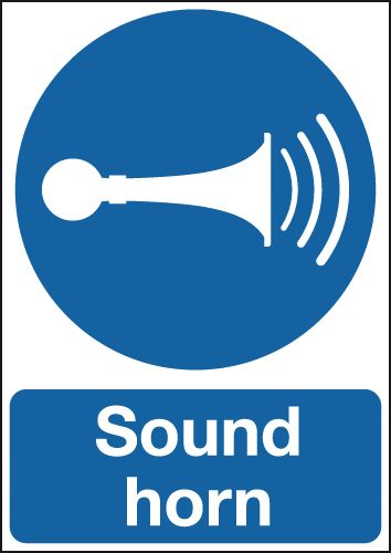 Sound Horn Signs  Seton Uk