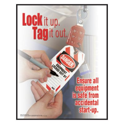 lockout tagout safety poster art