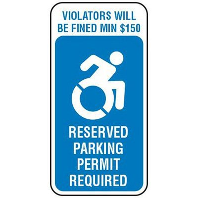 handicapped parking reserved state