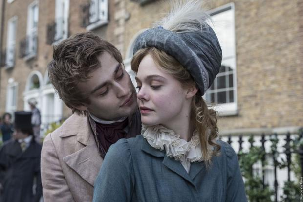 The affair: Douglas Booth and Elle Fanning play lovers Percy and Mary