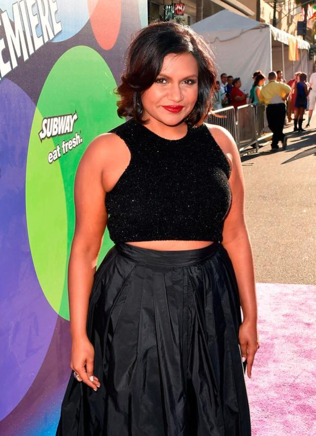 Actress Mindy Kaling attends the Los Angeles premiere of Disney-Pixar's