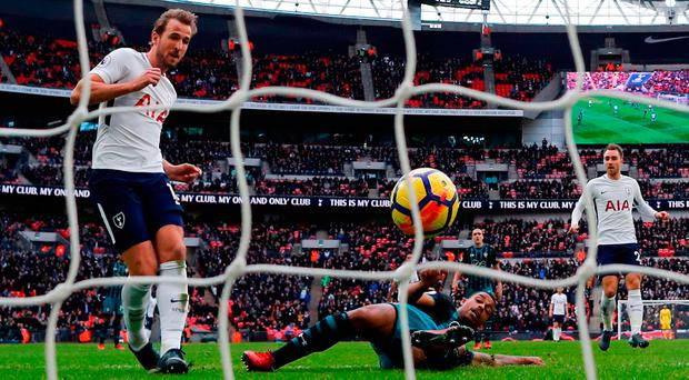 Real Madrid are thought to value Harry Kane at around £180m and plan to make a move in the summer. Photo: Getty Images