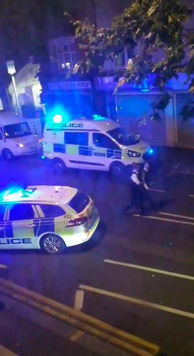 A police officer was stabbed shortly before midnight after attempting to stop a van Photo credit: PA Wire