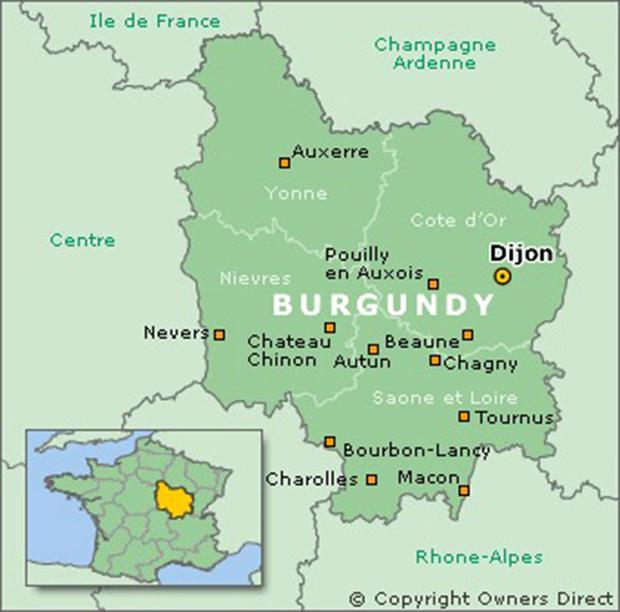 Map Of Yonne France.Map France And Beaune Burgundy France