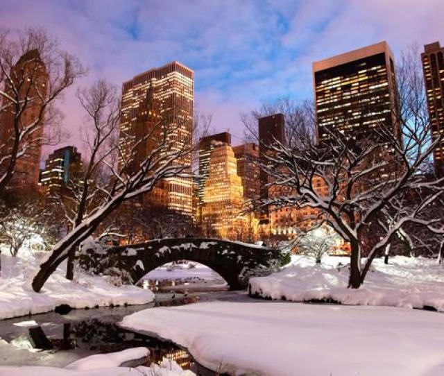 Winter In Central Park New York City Photo Getty