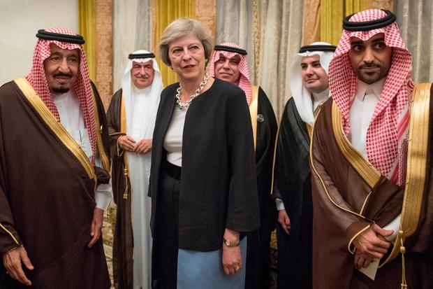 Image result for theresa may friends with saudi arabia, pics