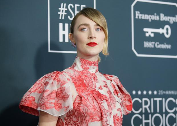 Saoirse Ronan arriving at the 25th Critics Choice Awards in Santa Monica, California this week. Picture: Reuters