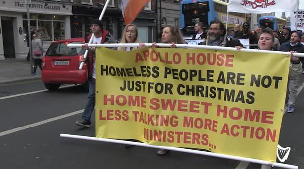 Image result for Apollo House activists urge Nama to house the homeless
