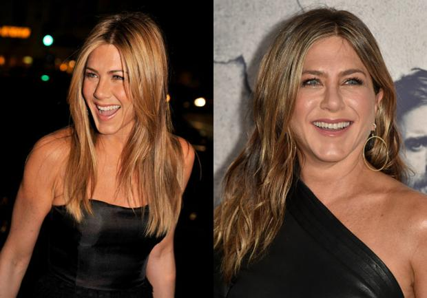 Image result for ten year challenge jennifer aniston