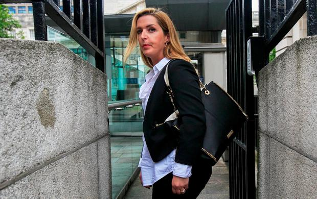 Preview: Vicky Phelan was given a look at Dr Scally's report. Photo: Collins