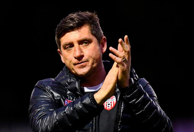 Disappointing night for Derry City manager Declan Devine