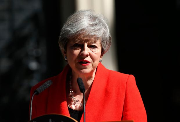 Prime Minister Theresa May makes a statement outside at 10 Downing Street in London, where she announced she is standing down as Tory party leader on Friday June 7: Yui Mok/PA Wire