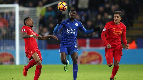 Image result for ndidi leicester vs liverpool