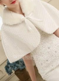 Faux Fur Wedding Shawl (013149904) - Wraps - JJsHouse