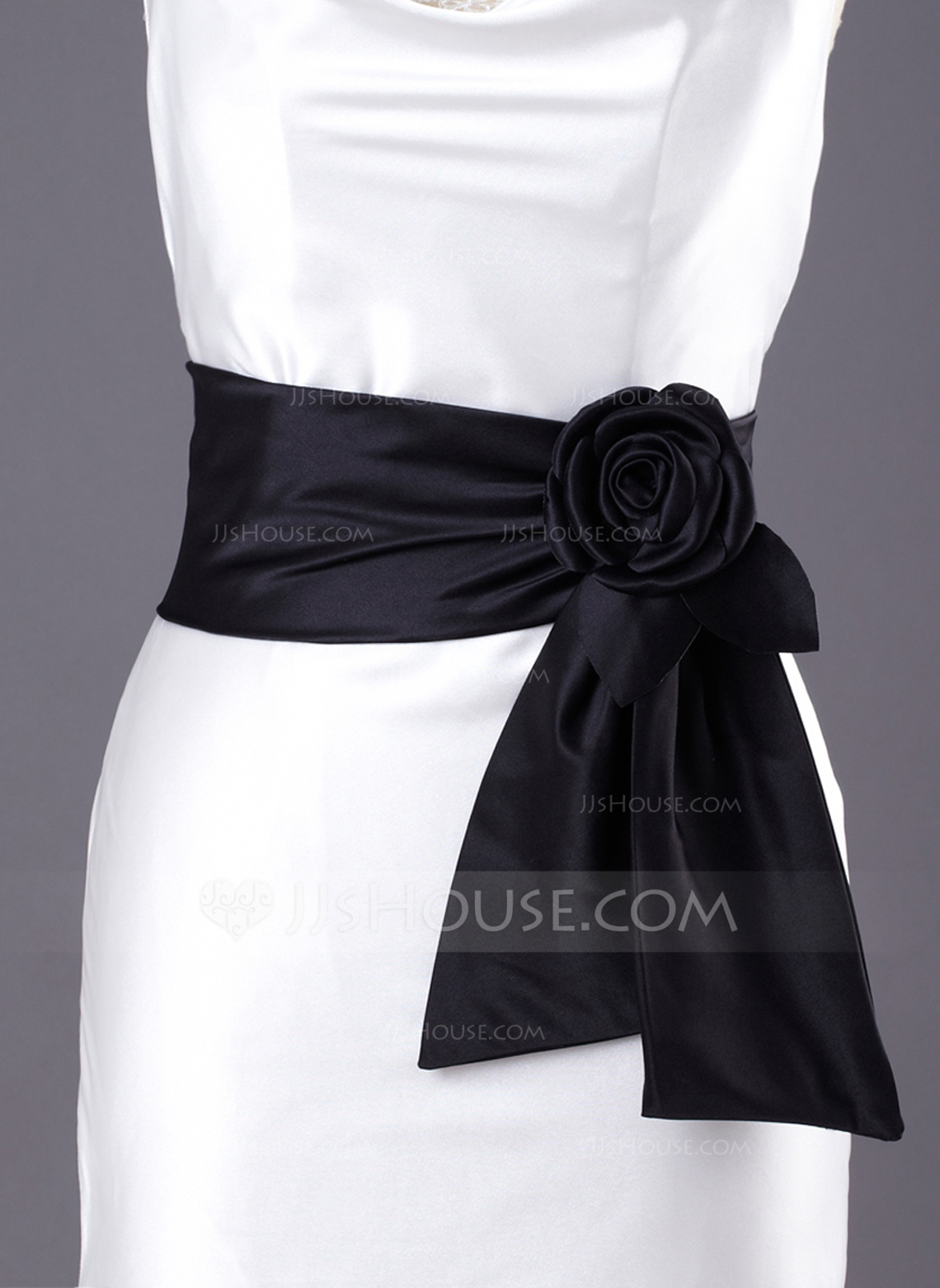 Simple Satin Sash With Flower 015033823 Sashes Amp Belts