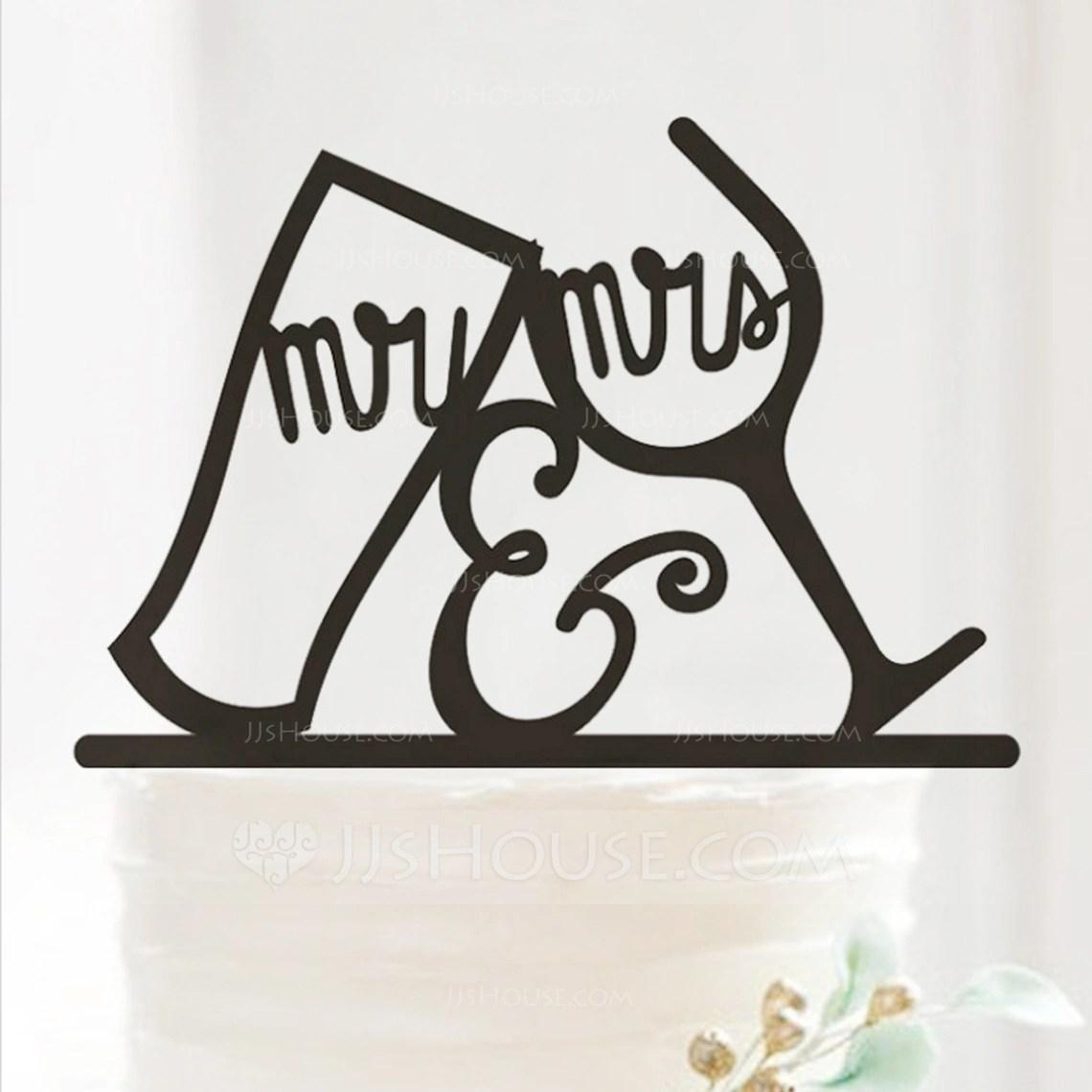 Mr Amp Mrs Acrylic Wedding Cake TopperAnniversary Cake