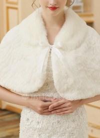 Faux Fur Wedding Shawl (013149936) - Wraps - JJsHouse