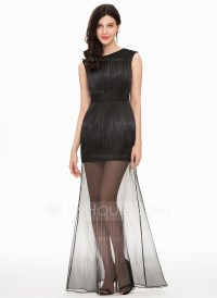 A-Line/Princess Scoop Neck Floor-Length Tulle Prom Dresses ...