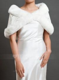 Faux Fur Wedding Shawl (013059530) - Wraps - JJ's House