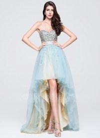 A-Line/Princess Sweetheart Asymmetrical Tulle Prom Dress ...