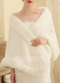 Faux Fur Wedding Shawl (013149883) - Wraps - JJsHouse