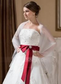Organza Wedding Shawl (013024556) - Wraps - JJsHouse