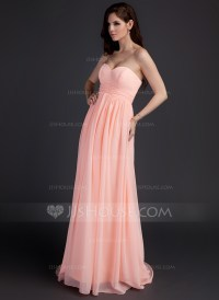 Empire Sweetheart Sweep Train Chiffon Maternity Bridesmaid ...