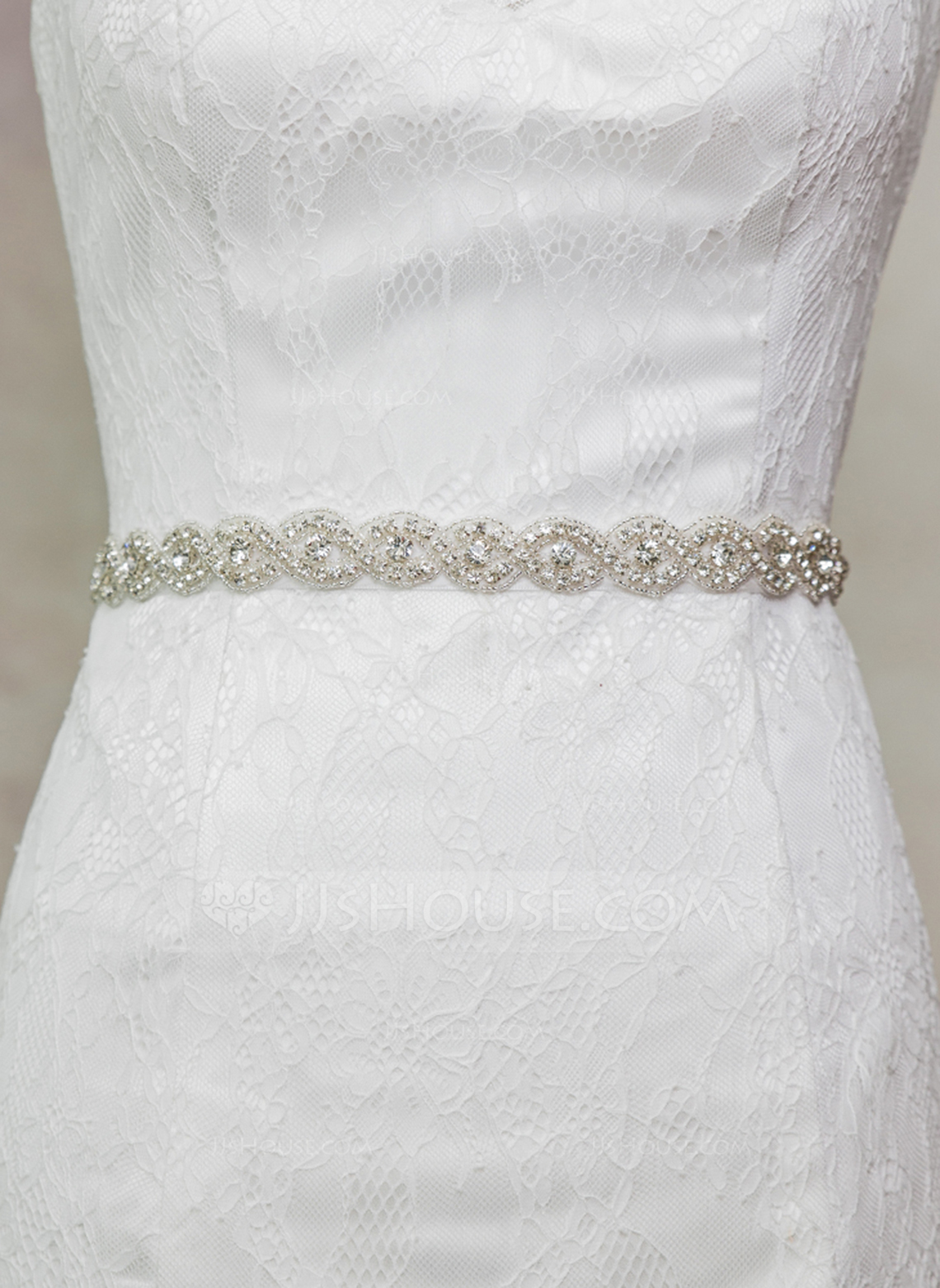 Beautiful Satin Sash With Rhinestones 015080154 Sashes